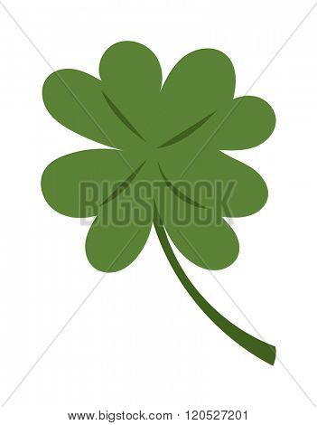 Clover vector illustration icon. Clover isolated on background. Clover cartoon style. Vector Clover. Clover modern style. Cute Clover isolated vector