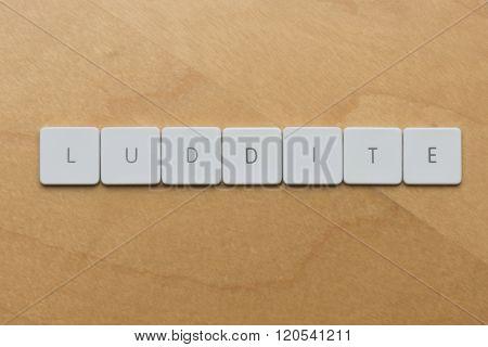 Keyboard Letters-luddite