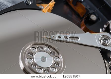Internals Of A Harddisk Hdd.