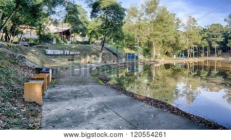 Shah Alam, Malaysia, December 30, 2015 - A Nature Looking Recreational Park At Taman Tasik @ 7/1F, S