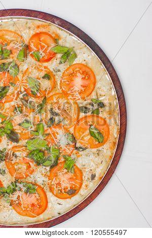 Traditional Brazilian Marguerita Pizza