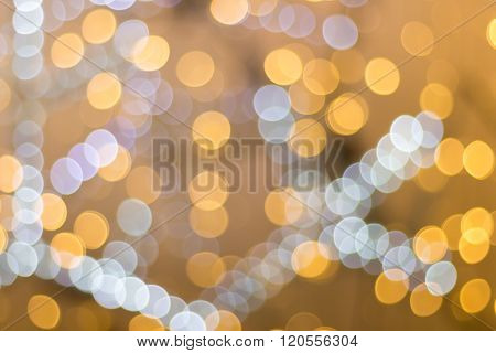 Blurred Image Of Festive Lights