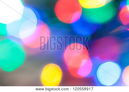 multicolor round blurred highlights