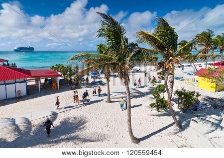 Sandy Beach In The Bahamas