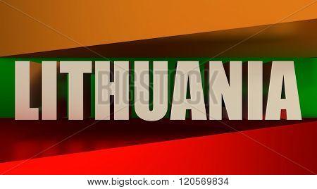 Lithuania flags design concept