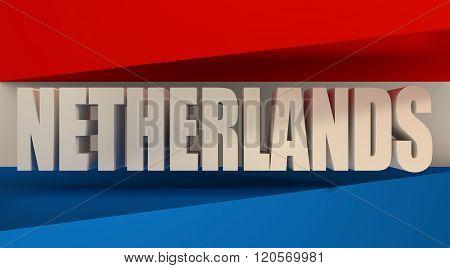 Netherlands flag design concept