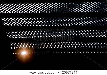 Prisoner Sees The Sunlight Through Bars