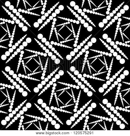 Design Seamless Monochrome Dotted Pattern