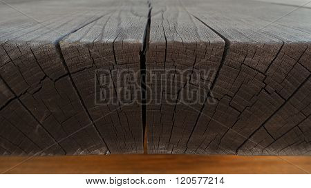 texture of wooden edge