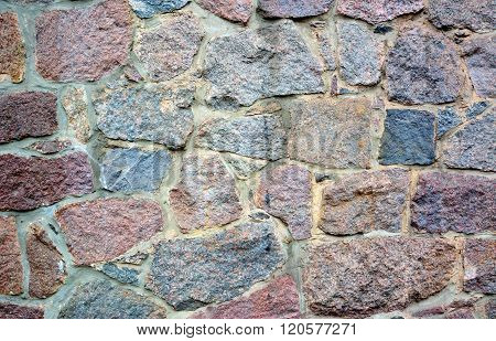 Stone Wall With Abstract Pattern