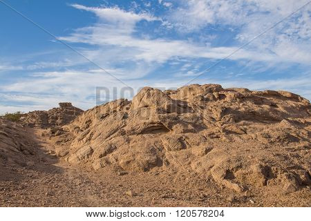 Rock In The Desert In Egypt
