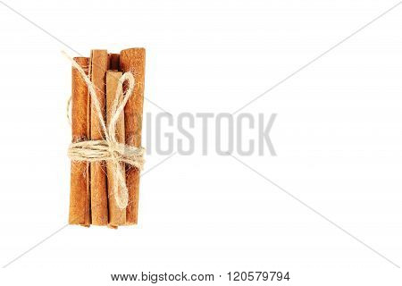 Cinnamon Isolated On A White Background