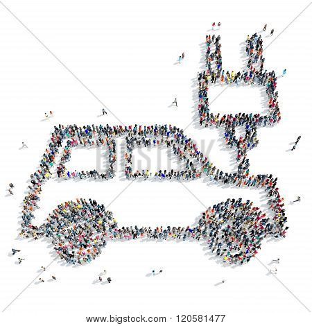 people  shape car ecology icon