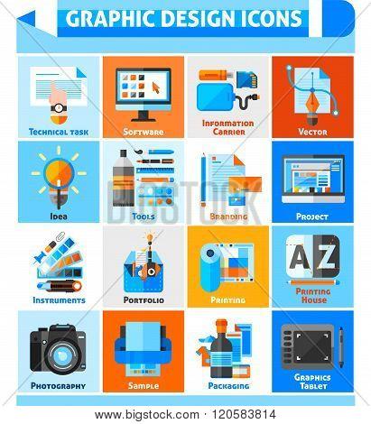 Graphic Design Icons Set