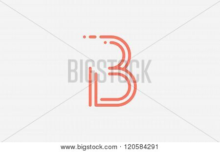 B letter logo. Line logo. Creative logo design.