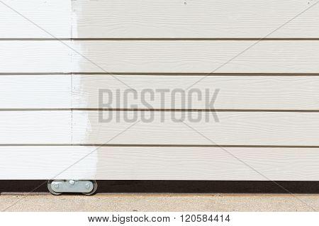 White Paint On Wood Fence Background