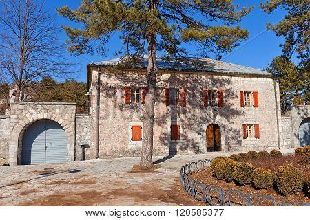 Njegos Residence (biljarda, 1838) In Cetinje, Montenegro