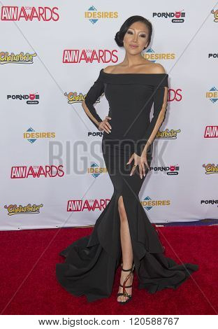LAS VEGAS - JAN 23 : Adult film actress Vicki Chase attends the 2016 Adult Video News Awards at the Hard Rock Hotel & Casino on January 23 2016 in Las Vegas Nevada.