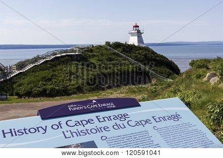 Cape Enrage Lighthouse in New Brunswick in Canada