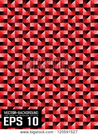 Abstract Background Pattern Mosaic Red