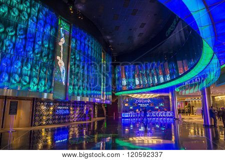 LAS VEGAS - DEC 18 : Zarkana at the Aria hotel in Las Vegas on December 18 2015. Zarkana is a Cirque du Soleil stage production written and directed by François Girard.