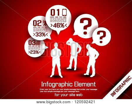 Business Man Infographic Option Three 10 Red