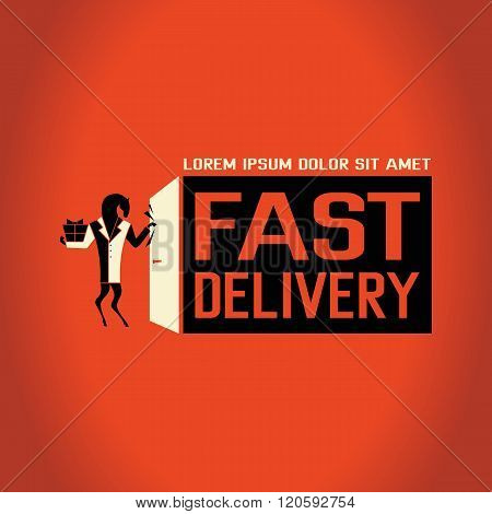 Vector logotype of fast delivery