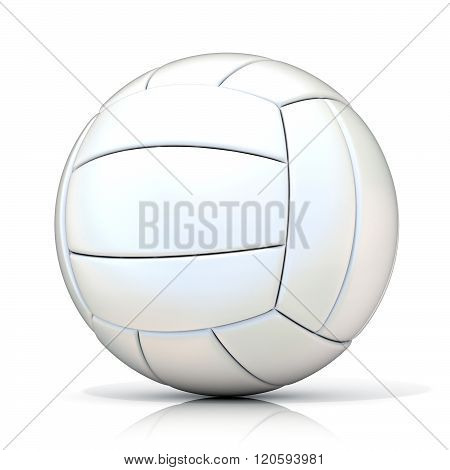 White volleyball ball isolated on white background.