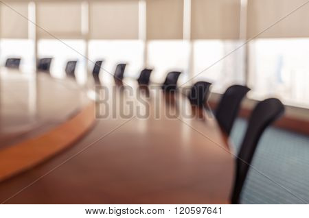 Blurred Conference Room For Background