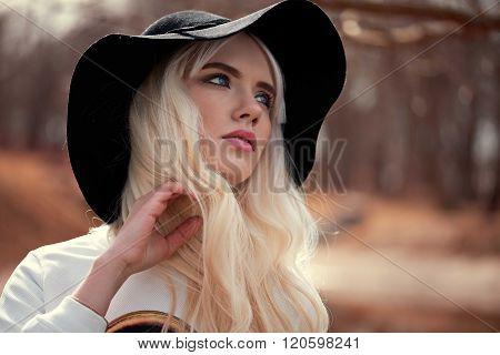 Portrait Of Beautiful Blonde Girl