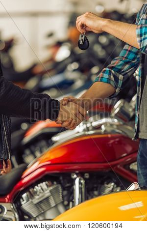 Men In Motorbike Salon