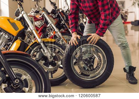 Man In Motorbike Salon