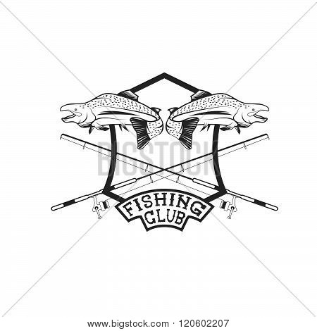 Fishing Club Crest Vector Photo Free Trial