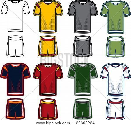 Set Of Soccer Uniform . Concept Of Graphic Clipart Work