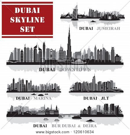 Set of Dubai districts