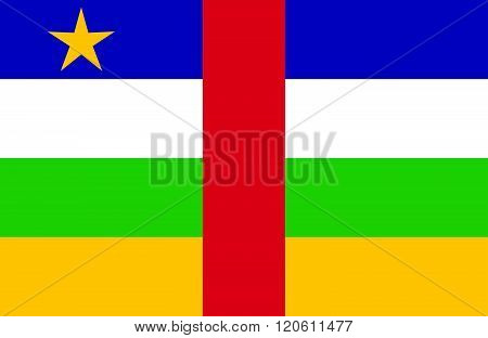 Central African Republic Flag.