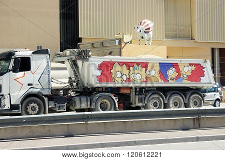 The Simpsons Truck