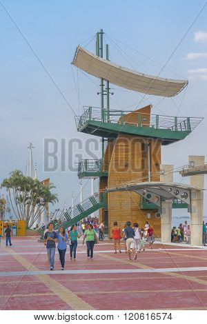 People At Malecon 2000 In Guayaquil Ecuador