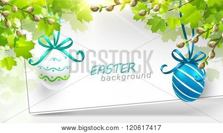 Easter decoration with leaves