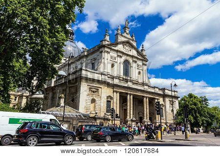 LONDON UK - JUNE 6 2015: Famous St. Paul's Cathedral church
