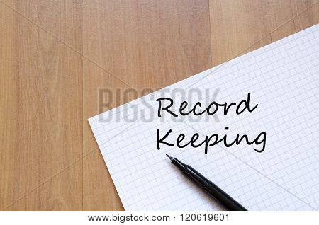 Record Keeping Write On Notebook