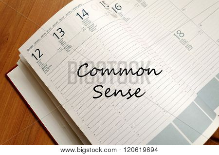 Common Sense Write On Notebook