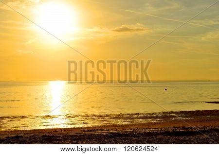 Sunset on Ben T Davis Beach in Florida