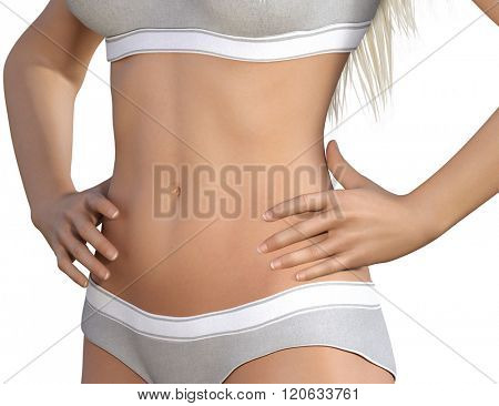 Body Contour Shaping and Aesthetic Industry as a Concept Illustration
