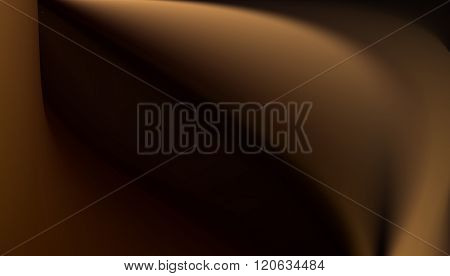 Abstract silken brown background with flowing lines