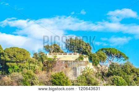 View Of Beautiful Landscape With Mediterranean Luxury Resort.