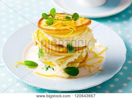 Pancakes With Lemon Cream