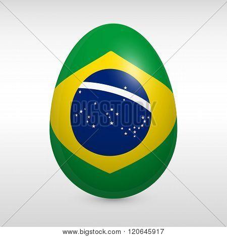 Easter Egg Flag Brasilia Icon