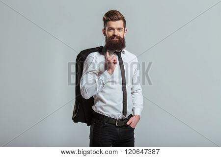Young Bearded Businessman