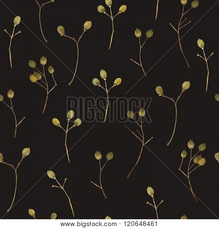 Seamless floral pattern. Background with a linden branch.